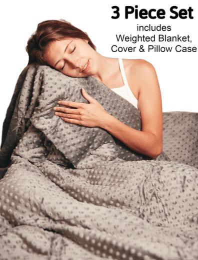 Manta con peso buen sueño